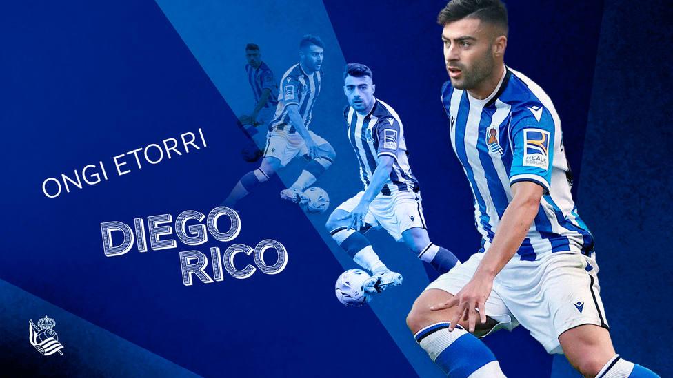 Diego Rico será nuevo jugador de la Real Sociedad.