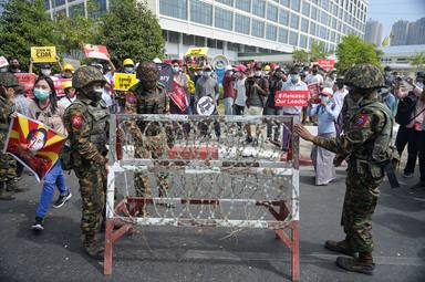 Anti-military coup protests in Myanmar