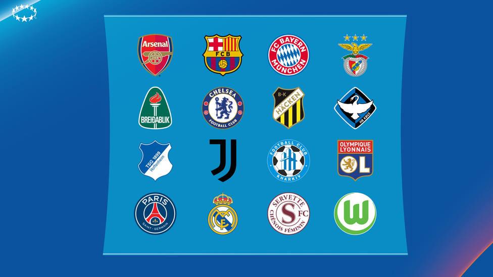 Equipos de la Champions Femenina de la temporada 21/22