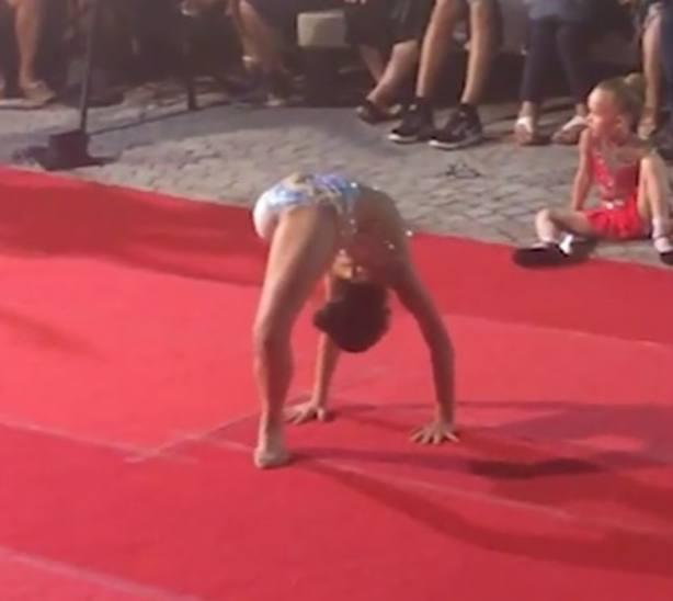 Giorgia en un momento de competición. Fotograma vídeo Corriere della Sera