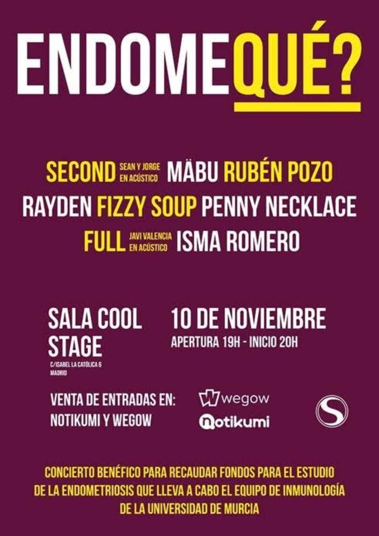 Numerosos artistas se unen en Endoqué?, un concierto que recaudará fondos para investigar contra la endometriosis