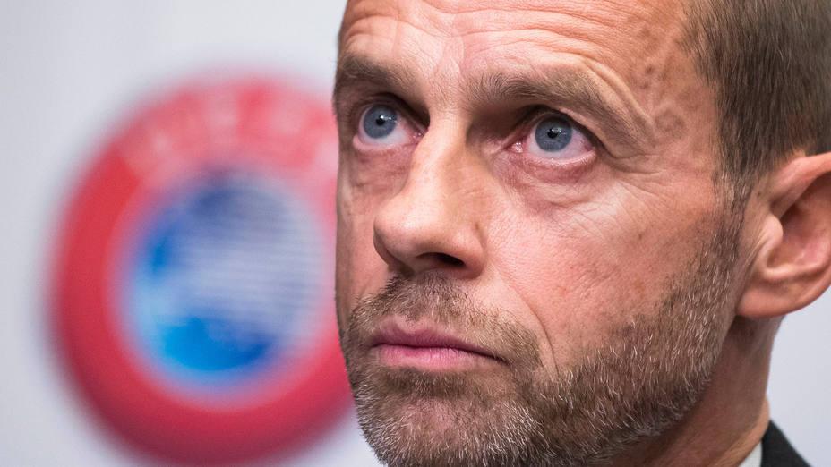Aleksander Ceferin, presidente de la UEFA. CORDONPRESS