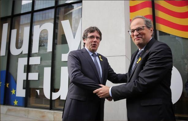 Torra, Puigdemont, JxCat, ERC y la CUP se reunieron ayer en Bélgica para intentar definir una estrategia conjunta