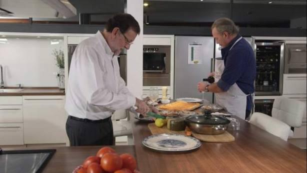 Bertín Osborne y Mariano Rajoy en un momento de la entrevista