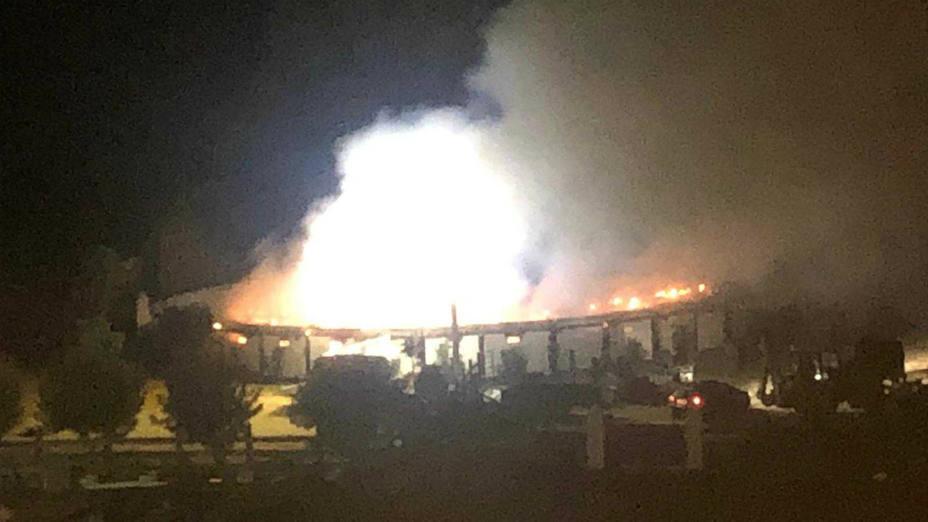 Incendio en la finca de Morante de la Puebla