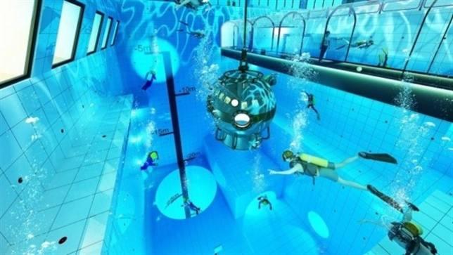 Imagen de la que será la piscina más profunda del mundo