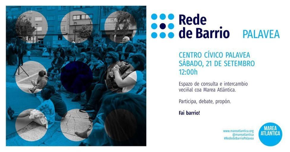 Cartel del primer encuentro de Rede de Barrio
