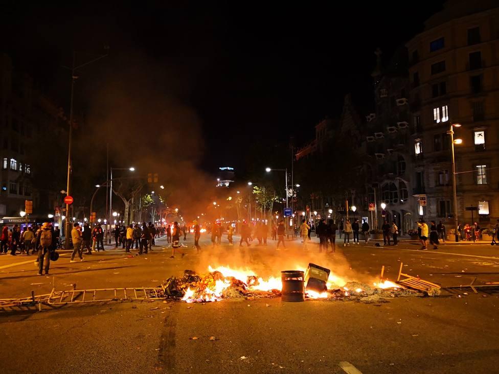 Las protestas por la sentencia dejaron ayer 125 heridos en Cataluña