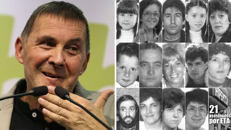 """Se cumplen 33 años del atentado más sanguinario de ETA con el que, según Otegui: """"La intención no era matar"""""""