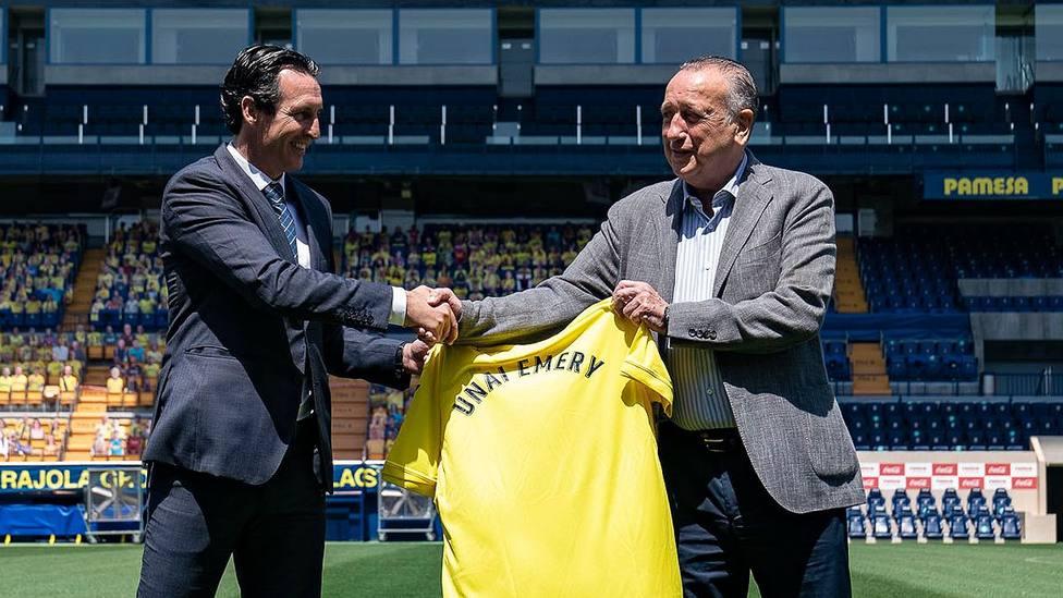 Unai Emery en su presentación como entrenador del Villarreal CF
