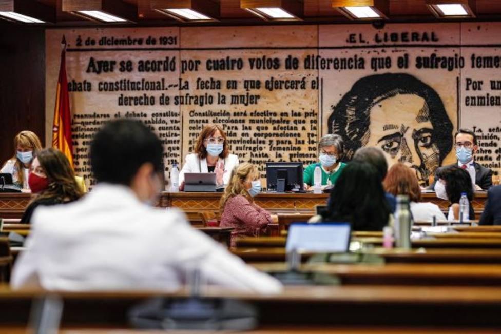Isabel Franco durante su intervención en el Senado