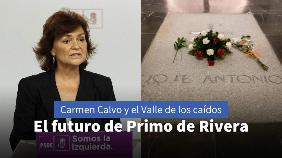 Carmen Calvo revela el futuro de Primo de Rivera en el Valle de los Caídos