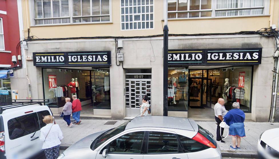 Fachada de Emilio Iglesias en la carretera de Castilla de Ferrol
