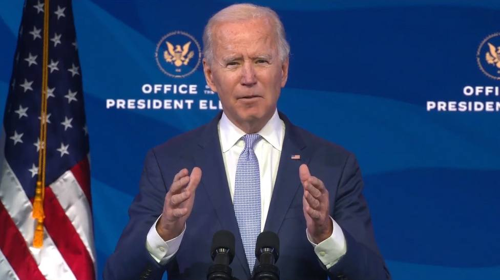 US President elect Joe Biden delivers remarks addressing the violence and rioting at the US Capitol.