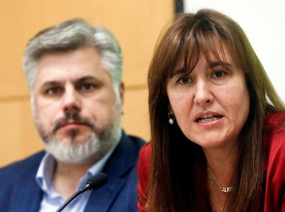 La candidata de Junts per Catalunya a la Presidencia de la Generalitat Laura Borrás