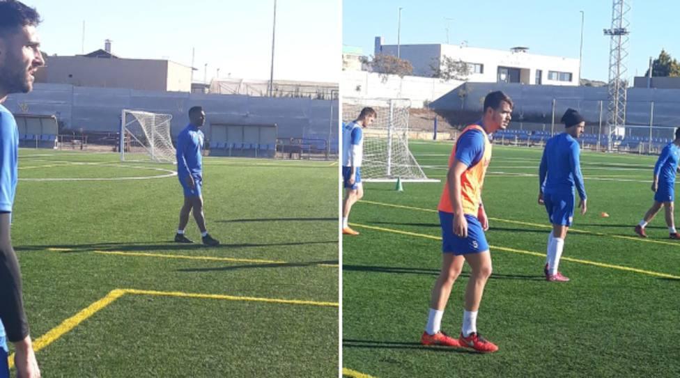 El delantero nigeriano Kalu Uche entrena con el Águilas FC