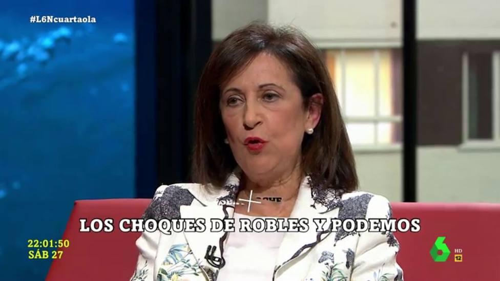 """Un miembro de Podemos ajusta cuentas con 'La Sexta Noche' tras la visita de Margarita Robles: """"Todo en orden"""