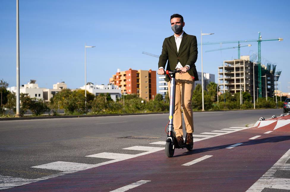 La red ciclista ya supera los 78 kilómetros lineales en la ciudad de Almería
