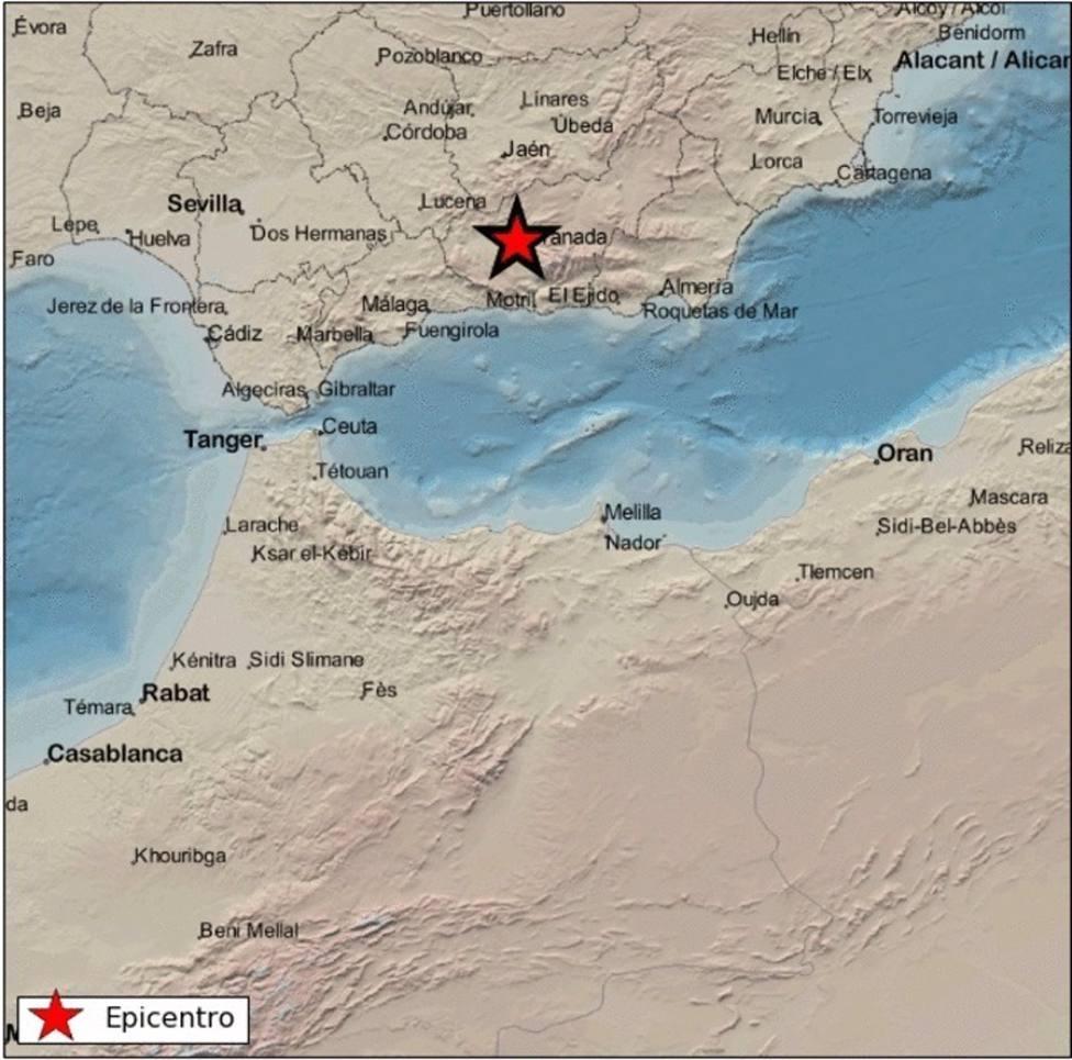 Granada.- La serie sísmica suma cinco terremotos de baja magnitud durante el fin de semana tras el de 3,1 de Gójar