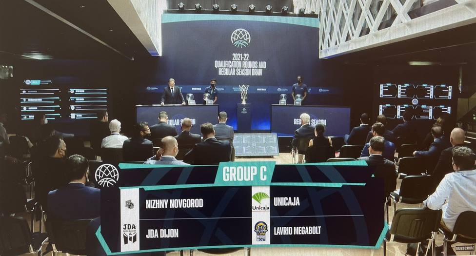Imagen del grupo donde quedó encuadrado Unicaja.
