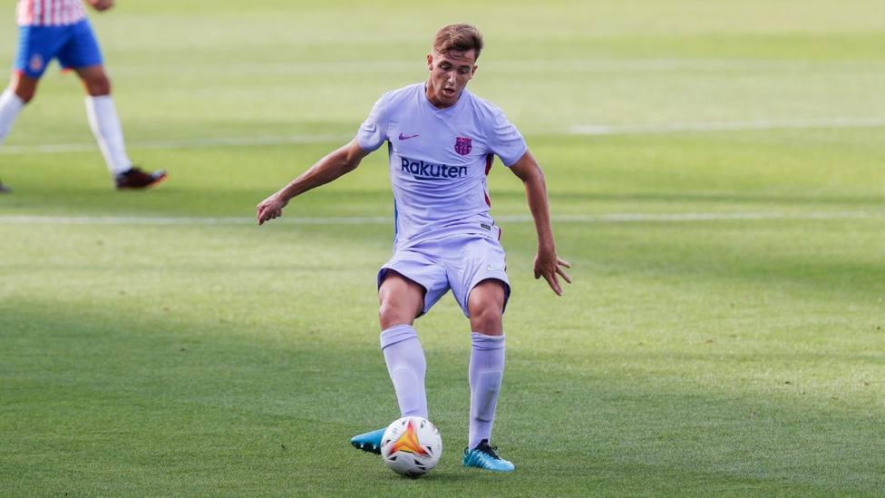 Nico González en el amistoso frente al Girona