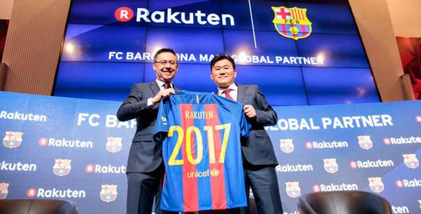 La empresa nipona Rakuten patrocinará al Barça por 55 millones de ... c562b5df1a4