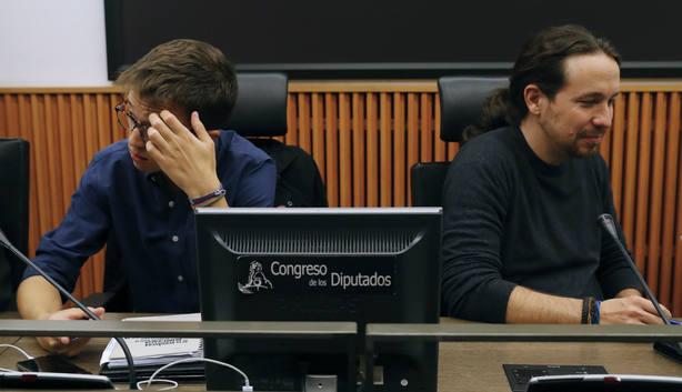 Pablo Iglesias e Íñigo Errejón en el Congreso de los Diputados. EFE