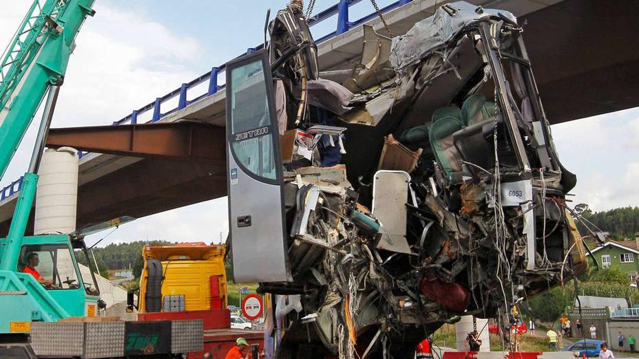 Accidente de autobús en Avilés