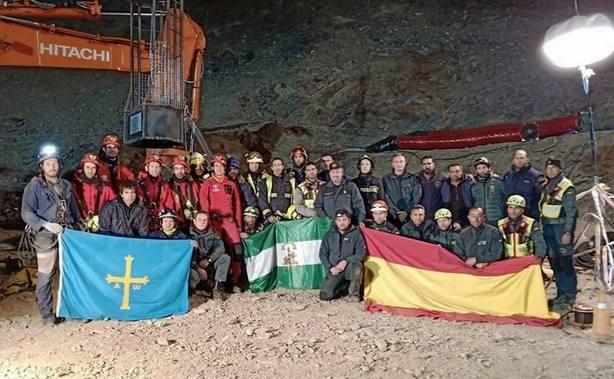 El equipo de rescate de Julen, inmensamente agradecido por las distinciones anunciadas
