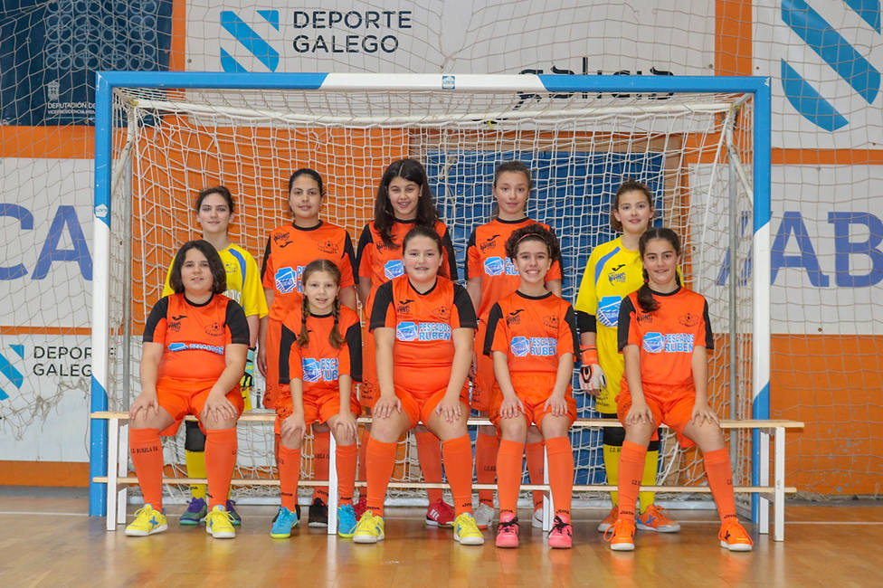 Equipo infantil del Burela FSF