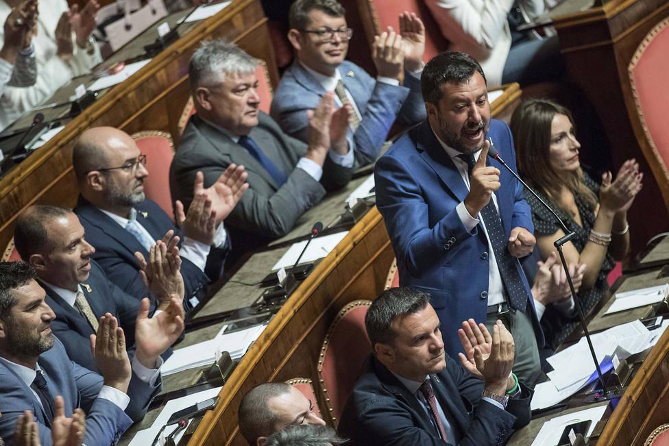 Salvini descarta hacer de la moción un mercado y afirma que ya ha ofrecido al M5S lo que pide