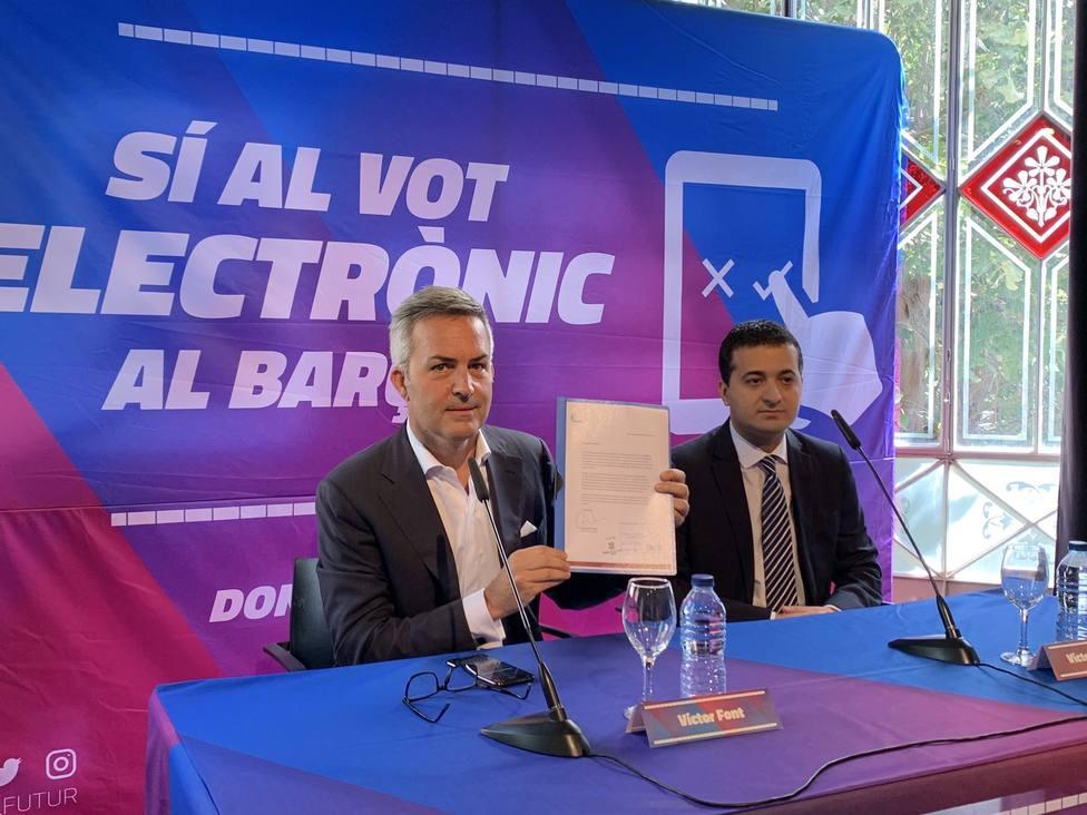 El Barça incluye la propuesta del voto electrónico de Víctor Font en la Asamblea