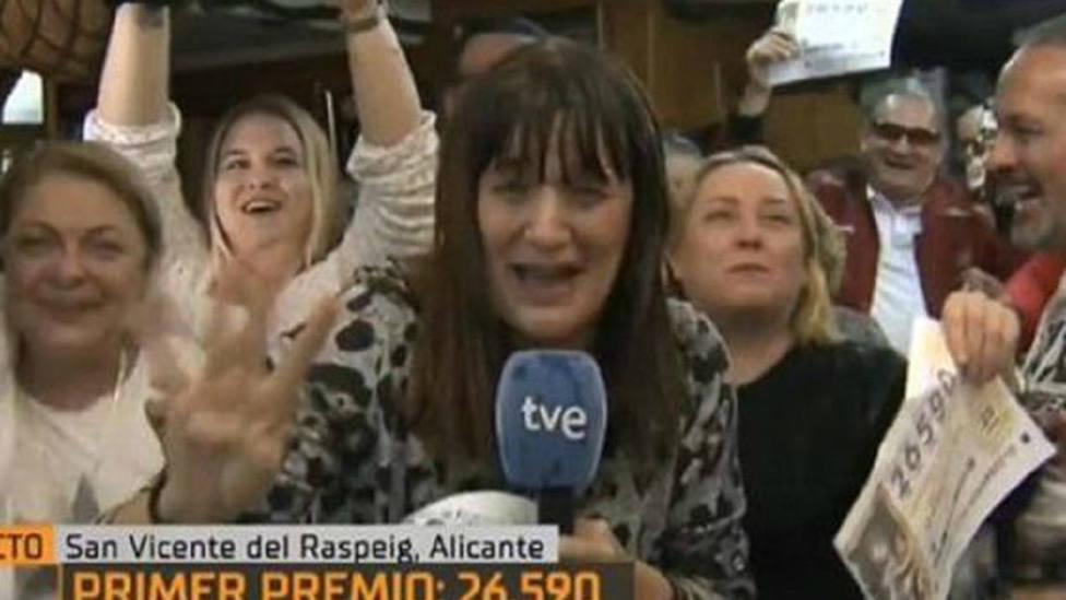 ¿Cuánto ha ganado realmente la reportera de TVE que se ha hecho viral por su Gordo fallido?
