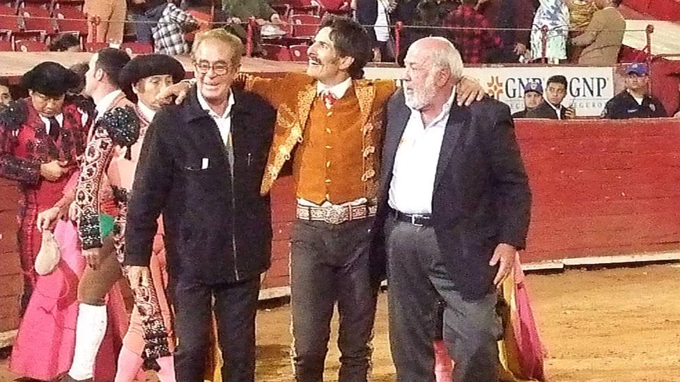 Emiliano Gamero en su triunfo el pasado mes de diciembre en la Monumental de México