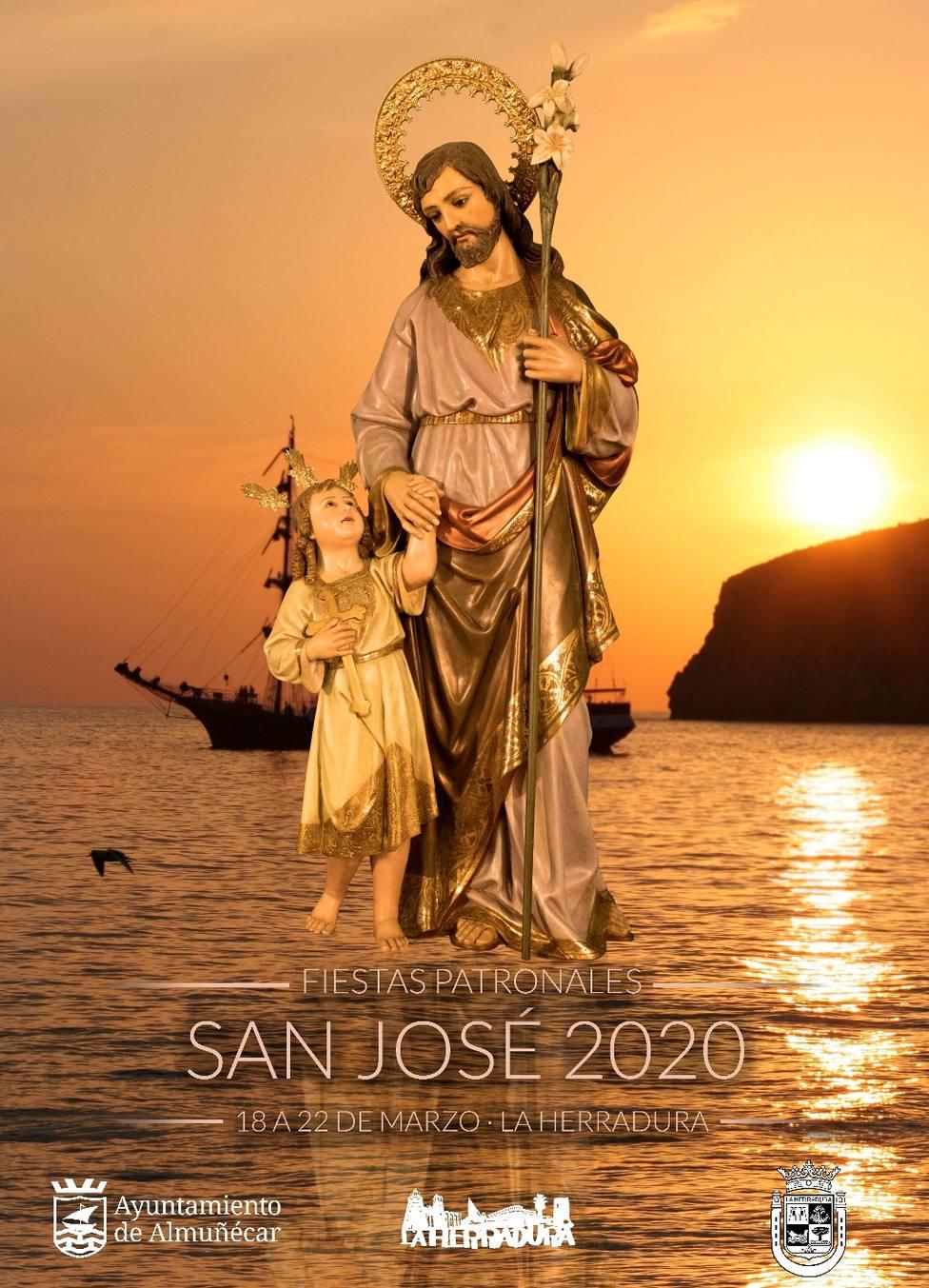 Cartel Fiestas Patronales de San José en La Herradura 2.020