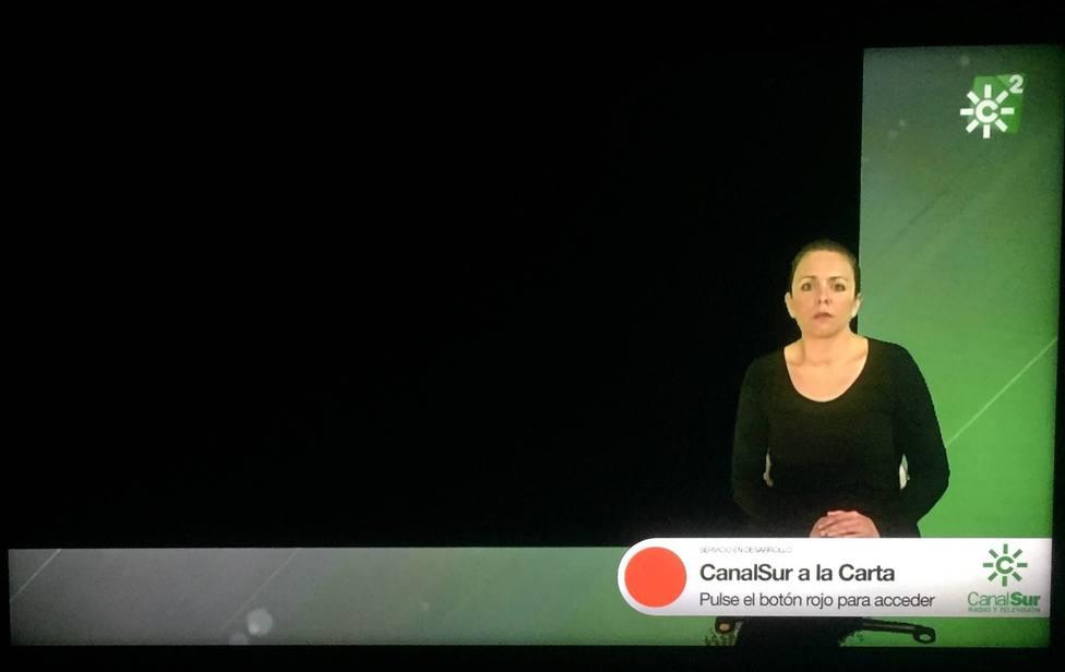 La surrealista situación de la intérprete de signos de Canal Sur tras un fundido a negro como protesta