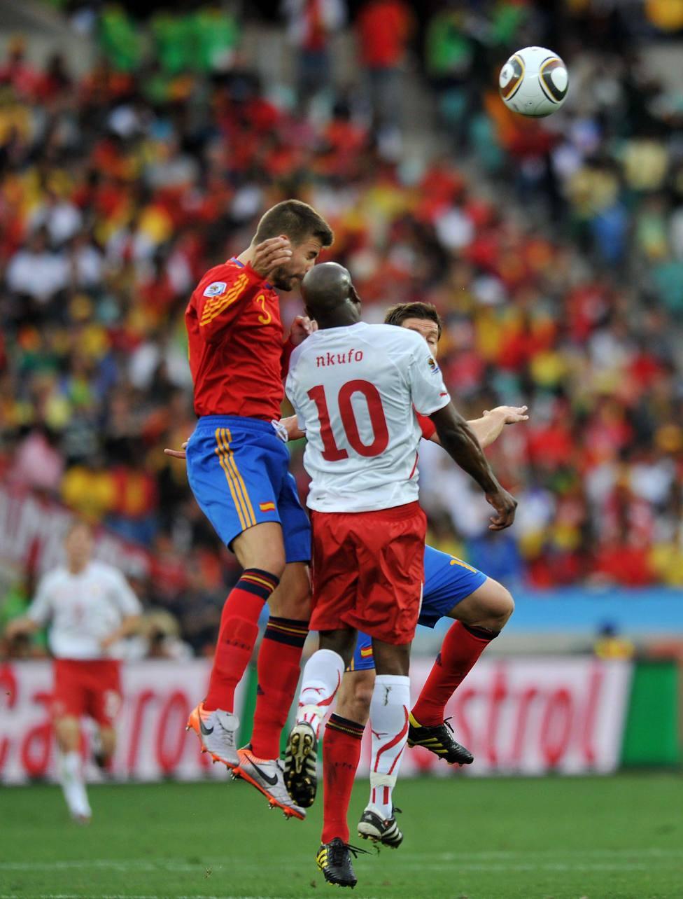 Piqué, en el partido ante Suiza