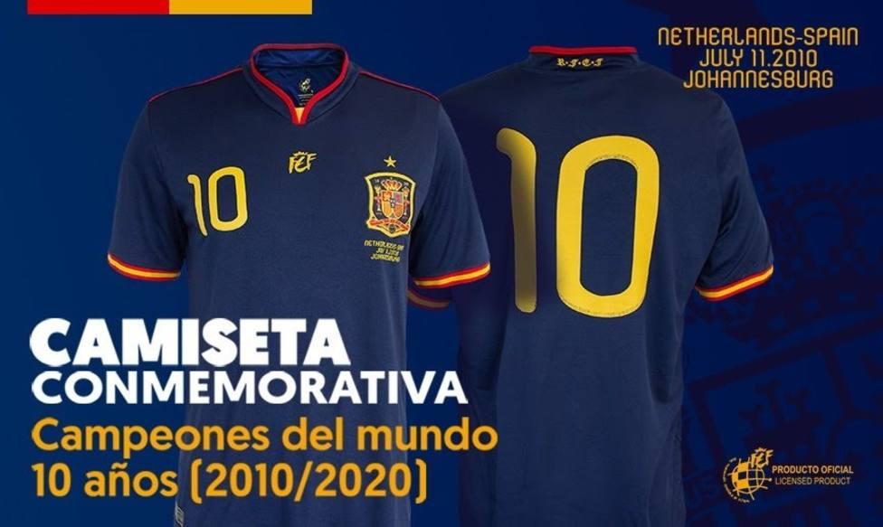 La RFEF pone a la venta la camiseta conmemorativa de la final del Mundial de 2010