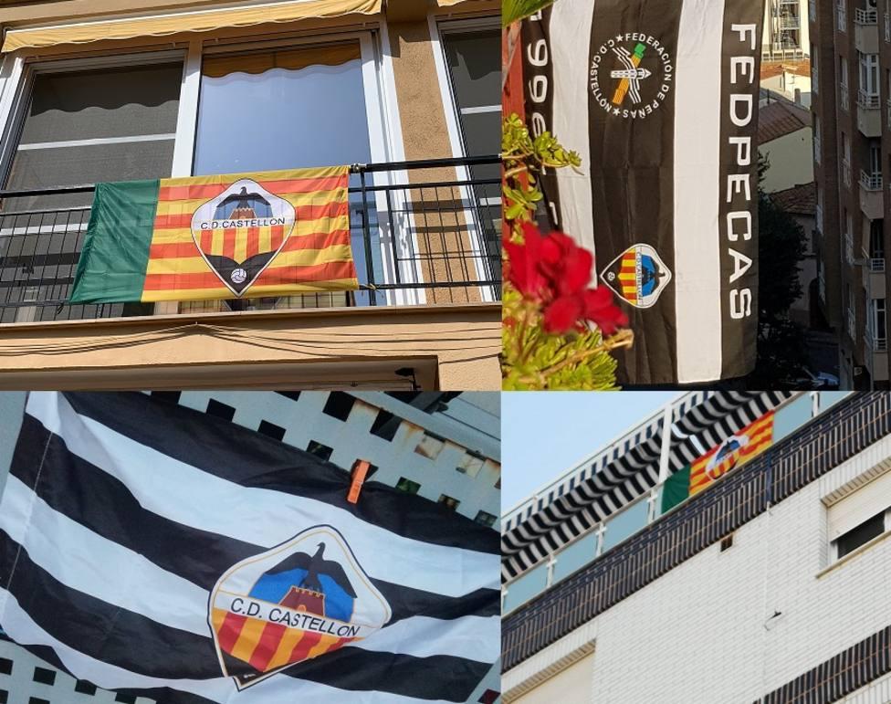 Castellón se ha engalanado con banderas del CD Castellón