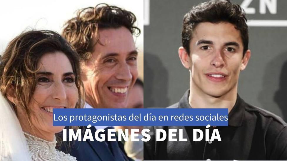 Paz Padilla y Marc Marquez