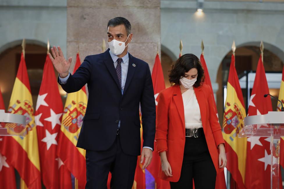 Pedro Sánchez y Ayuso