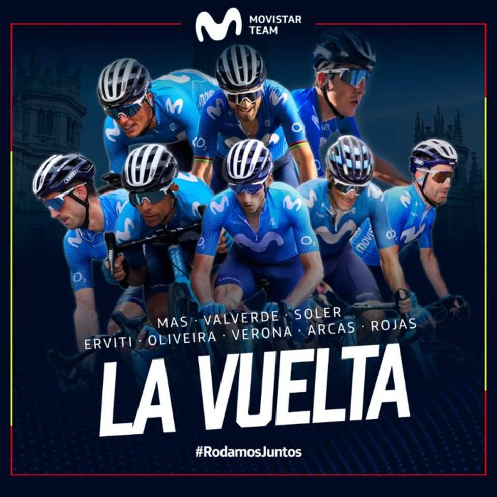 Alejandro Valverde y José Joaquín Rojas disputarán la Vuelta a España con Movistar