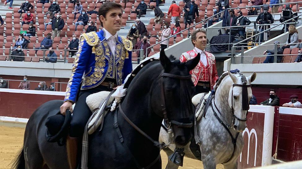 Guillermo y Pablo Hermoso de Mendoza este jueves en Logroño