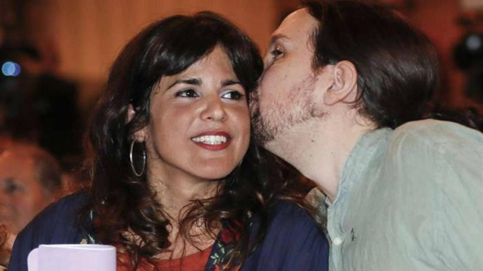 Imagen de archivo cuando Teresa Rodríguez y Pablo Iglesias compartían intereses políticos