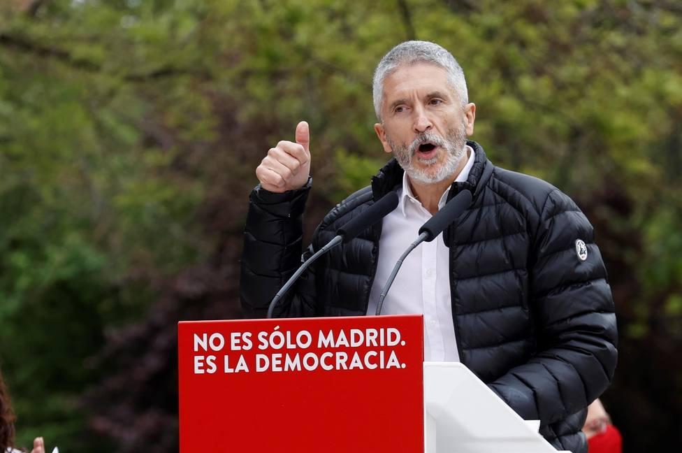Marlaska: Cuando hay señalamiento no vale la equidistancia, porque si no nos recuerda a otros fascismos