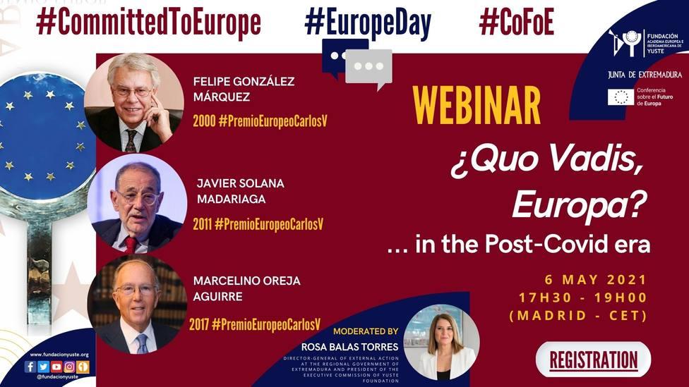 Cartel webinario '¿Quo Vadis, Europa?…en la era Post-Covid'