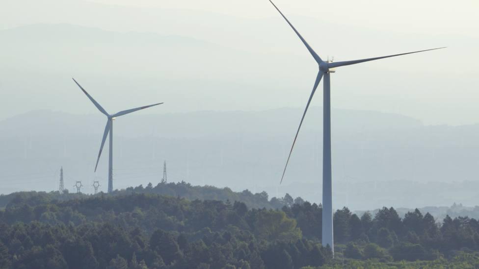 Foto de archivo de un parque eólico terrestre