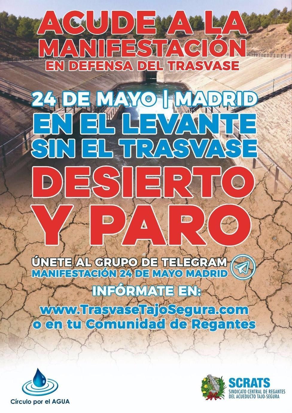 Manifestación en vehículos por Madrid del Srats como acto de protesta ante el cambio de reglas de explotación del Trasvase Tajo-Segura