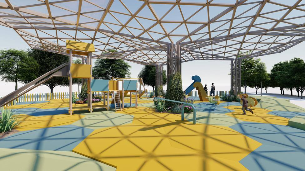El parque 23 de noviembre se cubrirá y tendrá nuevos elementos de juego