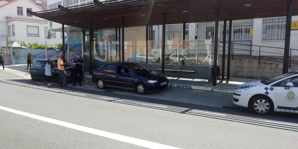 La colisión se produjo ante la Casa de la Cultura - FOTO: Cedida